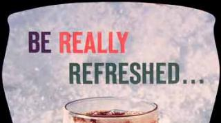 Be Really Refreshed slogan