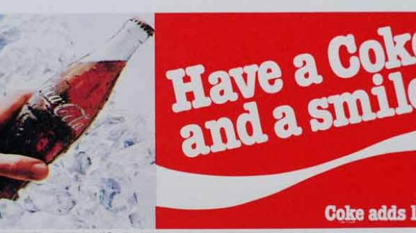 Have a Coke and a Smile slogan